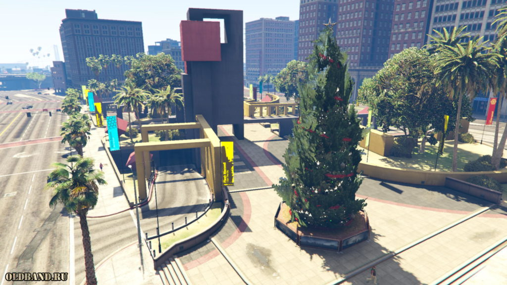 gta online елка на площади легиона